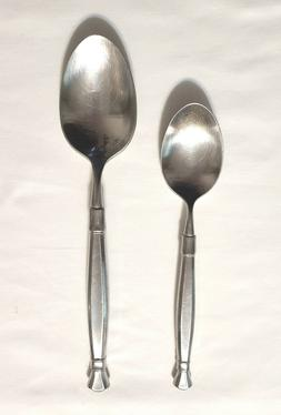 1 Place/Oval Soup Spoon +1 Tablespoon Oneida ACT II Cube Mar