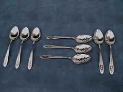 ONEIDA DELUXE STAINLESS *POLONAISE*  LARGE SERVING SPOONS