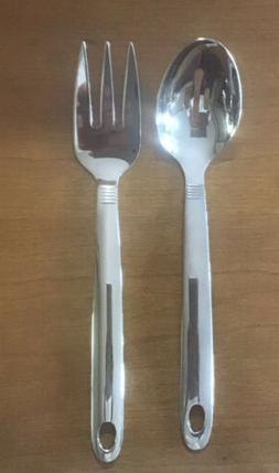 Oneida Pierced Serving Spoon & Fork With Oval Hole For Hangi
