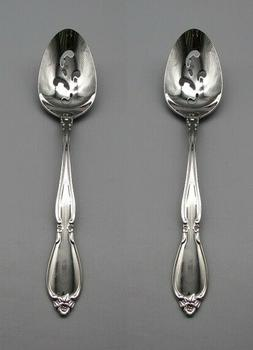 SET OF TWO - Oneida Stainless CHATELAINE Slotted Serving Spo
