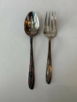 Vintage Serving Spoon and Fork, WM Rogers, IS